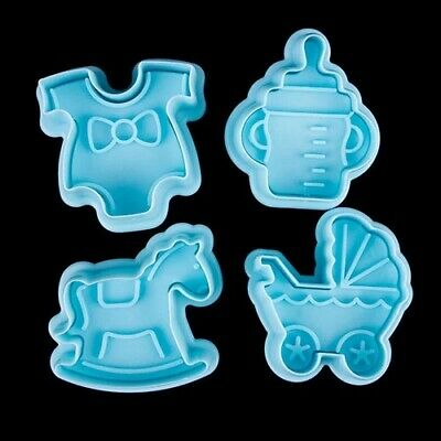 £2.89 • Buy 3D Baby Clothes Shower Biscuit Cookie Plunger Cutter Cake Decorating Baking Mold