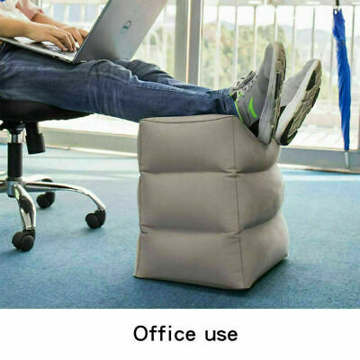 AU9.99 • Buy Air Inflatable Foot Rest Travel Air Pillow Cushion Office Home Leg Up Footrest