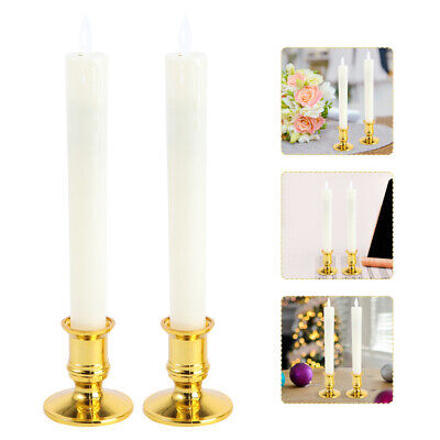 £13.85 • Buy 4 Pair Electronic Candles Long LED Candle Lamps For Home Indoor Without Battery