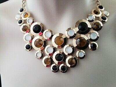 £5.99 • Buy Gold Costume Jewellery Chunky Statement Necklace