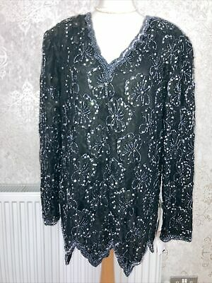 £10 • Buy Ronald Joyce After Six Size 20 Black Tunic Sequin Top. NWTags. MR12057