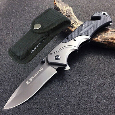 AU24.99 • Buy Browning Folding Pocket Knife Outdoor Camping Hunting Survival Fishing Knives AU