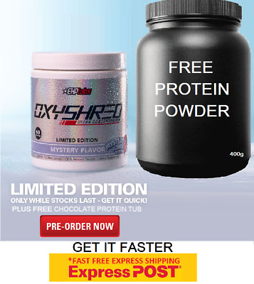 AU79.90 • Buy Ehplabs Oxyshred Mystery Flavour | Limited Edition | Express