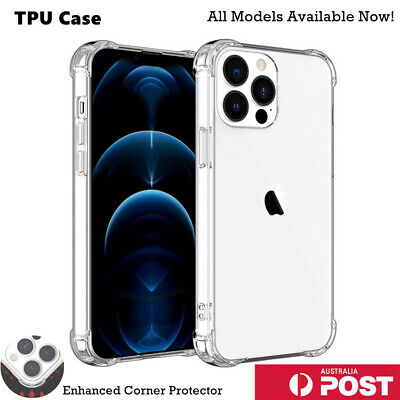 AU7.99 • Buy Clear Shockproof Bumper Back Case Cover For IPhone 12 11 Pro XS MAX X XR 7 Plus