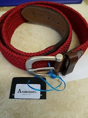 £36 • Buy Anderson's Belt, Elasticated Weaved Plaited Red  Size 100 EU.new