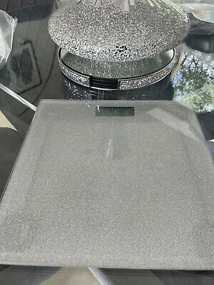 £10 • Buy Silver Glitter Mechanical Bathroom Weighing Scales