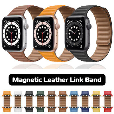 AU15.60 • Buy For Apple Watch Leather Link Band Strap IWatch Series 6 5 4 3 SE 40/44mm 38/42mm