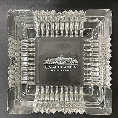 £14.62 • Buy Casa Blanca Ashtray Clear Glass Cigar Square 4 Rests 7  X 7  1.5  Tall