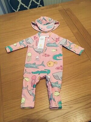 £15.99 • Buy Rrp £18 Bnwt Marks And Spencers 2 Piece Uv Suit 0-3 Months