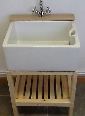 £295 • Buy Wooden Stand With Hardwood Tap Ledge - Ideal Belfast Sink Utility Or Kitchen