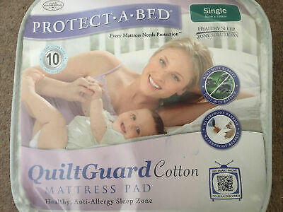 £16.99 • Buy Protect A Bed Quiltguard Waterproof Single Mattress Protector(90x190cms)