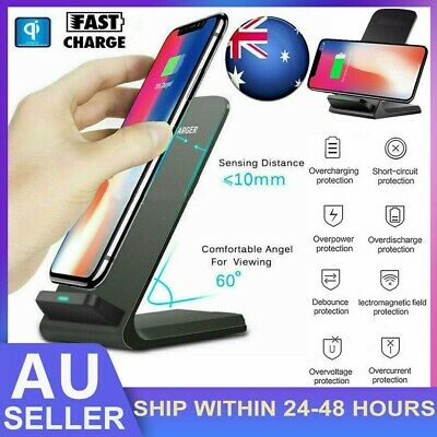 AU12.49 • Buy 10W Fast Wireless Charger Stand Qi Charging Dock For Samsung / IPhone /Lumia AU