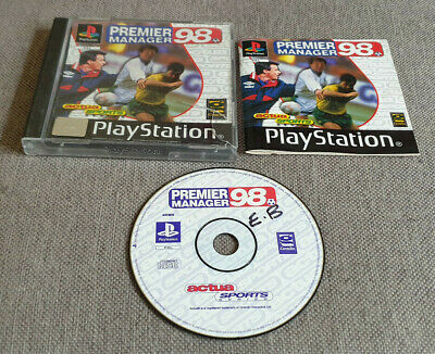 £4.99 • Buy Sony Playstation 1 PS1 Game Premier Manager 98 Boxed With Manual