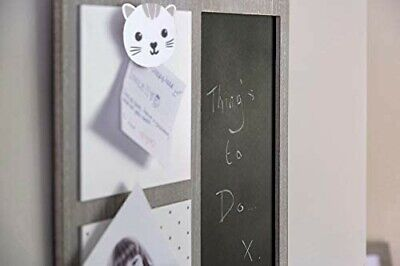 £9.99 • Buy Kitchen Notice Board With Blackboard And Cat Clip - Wall Hanging Home Gifts For