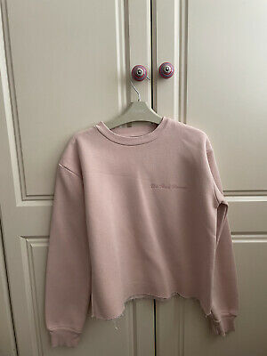 £4.40 • Buy Topshop Womens Crop Pink Jumper Size 6 Tee And Cake 'uh Huh Honey'
