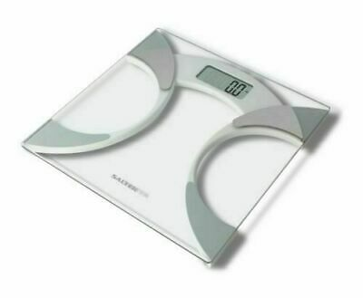 £17.95 • Buy Salter 9141 Wh3r Glass Body Fat Analyser Bathroom Scale