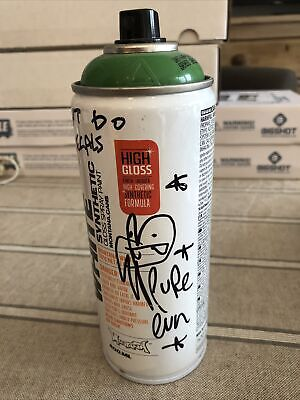 £120 • Buy Pure Evil Signed Spray Can From Art Car Boot Fair.