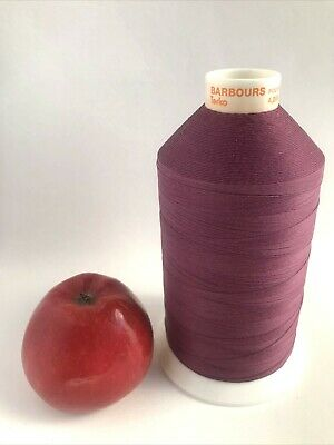 £9.50 • Buy Vintage Barbour Terko Satin Sewing Thread Heavy Duty Strong 4000m No 50 Damson