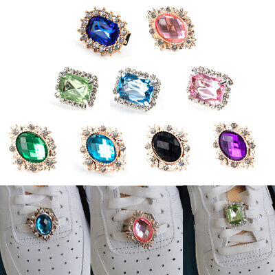 £2.17 • Buy Crystal Rhinestone Buckle Accessories Shoes Charm Shoelace Jewelry Decoratihf