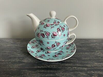 £9.95 • Buy Whittard Of Chelsea Tea For One Teapot And Cup Pretty Floral 'tea Time Tarts'