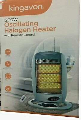 £29.95 • Buy Halogen  Oscillating Heater With Remote Control 3 Heat Settings 1200w