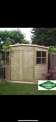 £1800 • Buy Shed Corner House Summer House Georgian Office Garden Shed Delivery 8-14 Weeks