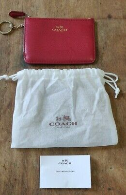 £17 • Buy Coach Leather Purse Wallet Card Holder Red With Dustbag