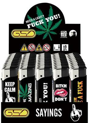 £3.20 • Buy 5 Pack Gsd * Sayings * Electronic Refillable Lighters Multi Pack 5 For £3.20