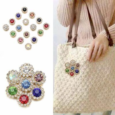 £2.55 • Buy Hat Accessories Clothes Decoration Rhinestone Crystal Glass Stone Buttons