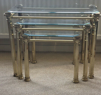 £60 • Buy Glass Topped Nest Of Tables - Pre-owned In Excellent Condition