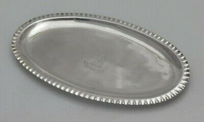 £495 • Buy 1784 Georgian Antique Solid Silver Fine Dining Table Spoon Tray Tray (1394-9-ONN