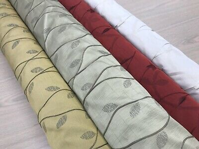 £9.99 • Buy FAUX SILK CURTAIN FABRIC DAMASK DESIGNER MATERIAL 140CMS WIDE DRAPES Blinds