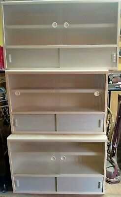 £200 • Buy 3 X 1950s 60s Kitchen Wall Units Wooden  Glass Mid Century Vintage