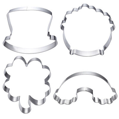 £6.73 • Buy OUNONA 4pcs St. Patrick's Day Shamrock Cookie Cutters Set Non-stick Stainless St