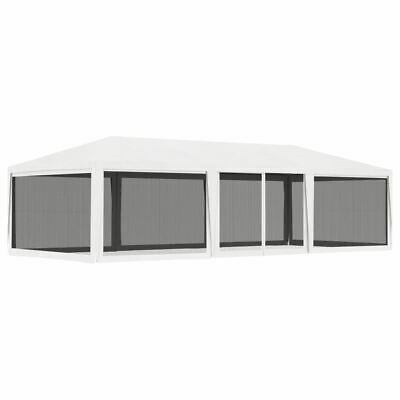AU230.95 • Buy White Gazebo Mesh Screen Walls Outdoor Event Party Tent Marquee 4x9m Pavilion