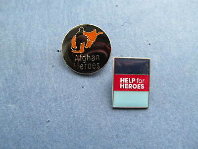 £7.99 • Buy An Afgan Heroes &  Help For Heroes  Pin Badge Set New & Bagged-with Free P&p