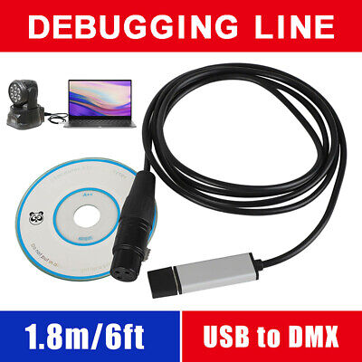 £10.59 • Buy USB To DMX Adapter DMX512 Stage Light Controller Cable With CD Driver For PC Set