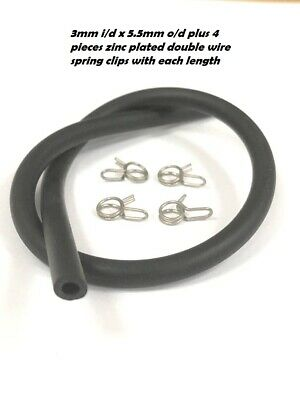 £2.99 • Buy  Flexible Soft Rubber Tube - Air / Water Fuel Petrol Oil Hose Pipe Black + Clips