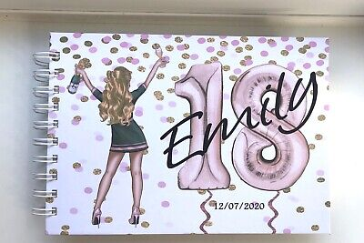 £13.99 • Buy Personalised A5 BIRTHDAY 18th 21st 30th 40th 50th 60th* Guest Book/ Photo Album