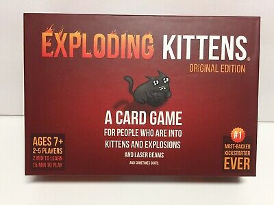 AU24.62 • Buy Exploding Kittens: Original Edition 2-5 Players Fun Version Of Russian Roulette