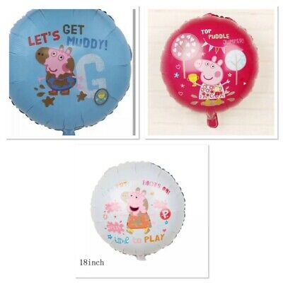 £1.99 • Buy Peppa Pig George Pig 18  Foil Balloons 3 Different Designs Free Delivery