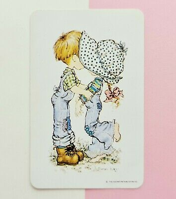 AU4.80 • Buy GENUINE 1970's Swap Card ~ SARAH KAY ARTIST *YOUNG BOY KISSING YOUNG GIRL ~ D31