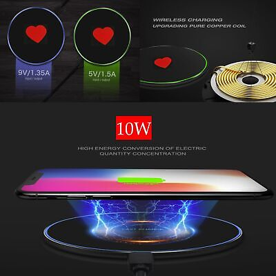 AU18.95 • Buy Qi Wireless Charger FAST LED Charging Pad IPhone 12 11 X Pro Samsung S21 S20 S10