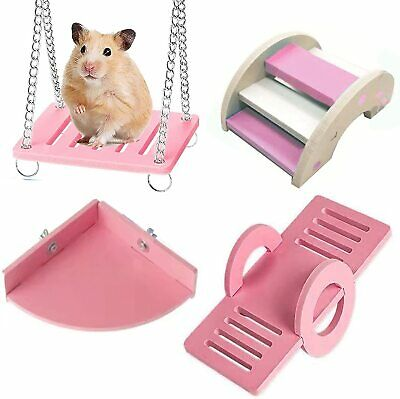 £5.99 • Buy Chew Toys,Guinea Pig Toys Natural Wooden Pink Rats Chinchillas Rabbits Bunny