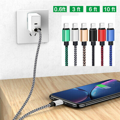 £2.68 • Buy Heavy Duty Cable For IPhone XS XR X 8 7 Plus 6 5 USB Fast Charging Charger Lead