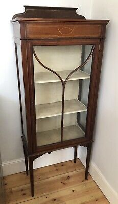 £95 • Buy Antique Mahogany Victorian Display Cabinet With Original Lock And Key