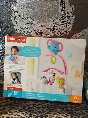 £17.99 • Buy Fisher Price 3 In 1 Musical Mobile Music Crib Elephant Infant Baby Toy