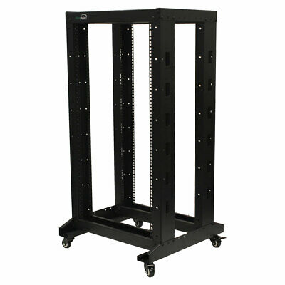£199.77 • Buy 4ft Open Frame 19  22U 4-Post Network Server Relay Rack Rolling With Casters