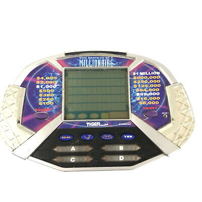 £5.79 • Buy Who Wants To Be A Millionaire Handheld Electronic Game Tiger 2000 Tested Working