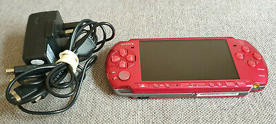 £69.99 • Buy Sony PSP 3003 Red Slim And Lite Handheld Games Console Ref 8599